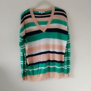 Madewell cotton v-neck sweater